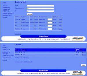 Modulo e-commerce su ADlabWEB