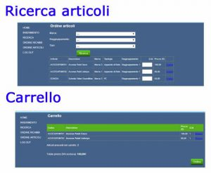Modulo e-commerce su ADcallWEB